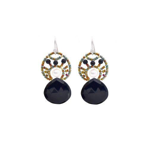 Ziio-jewels-EARRINGS HEART Black Gancio